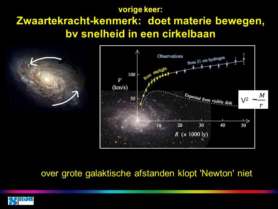 over grote galaktische afstanden klopt Newton niet