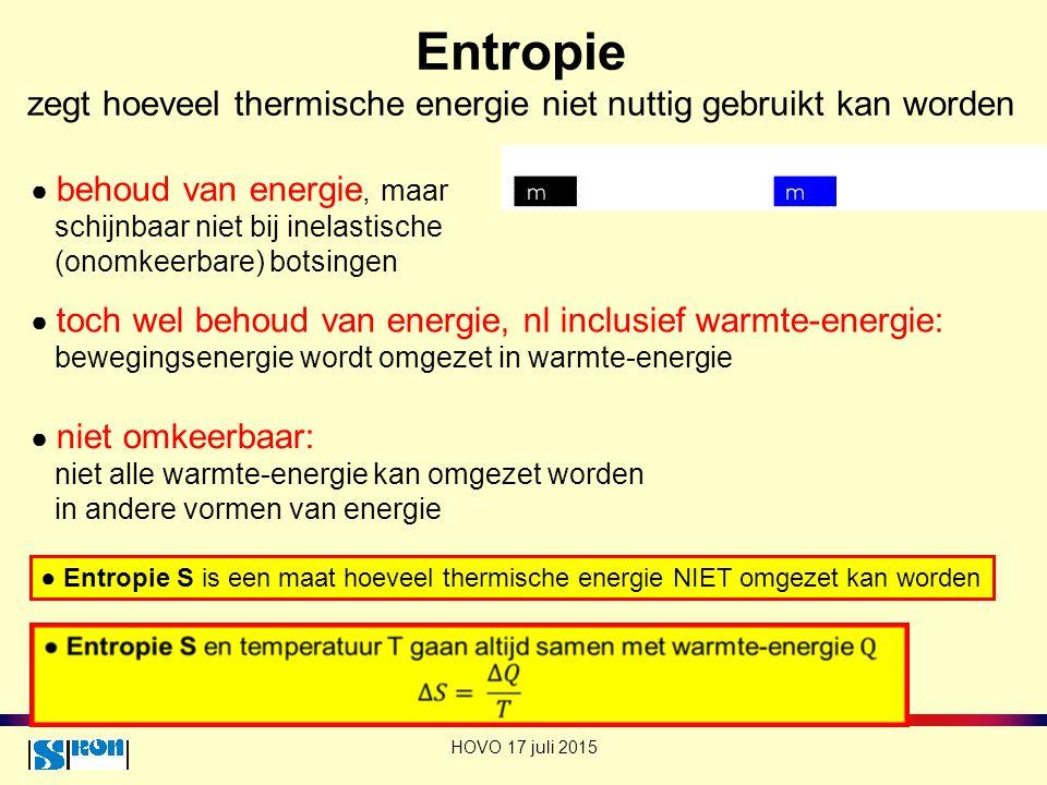 Entropie zegt hoeveel thermische energie niet nuttig gebruikt kan worden