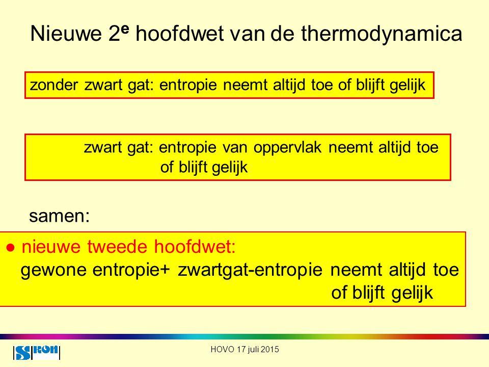 Nieuwe 2e hoofdwet van de thermodynamica
