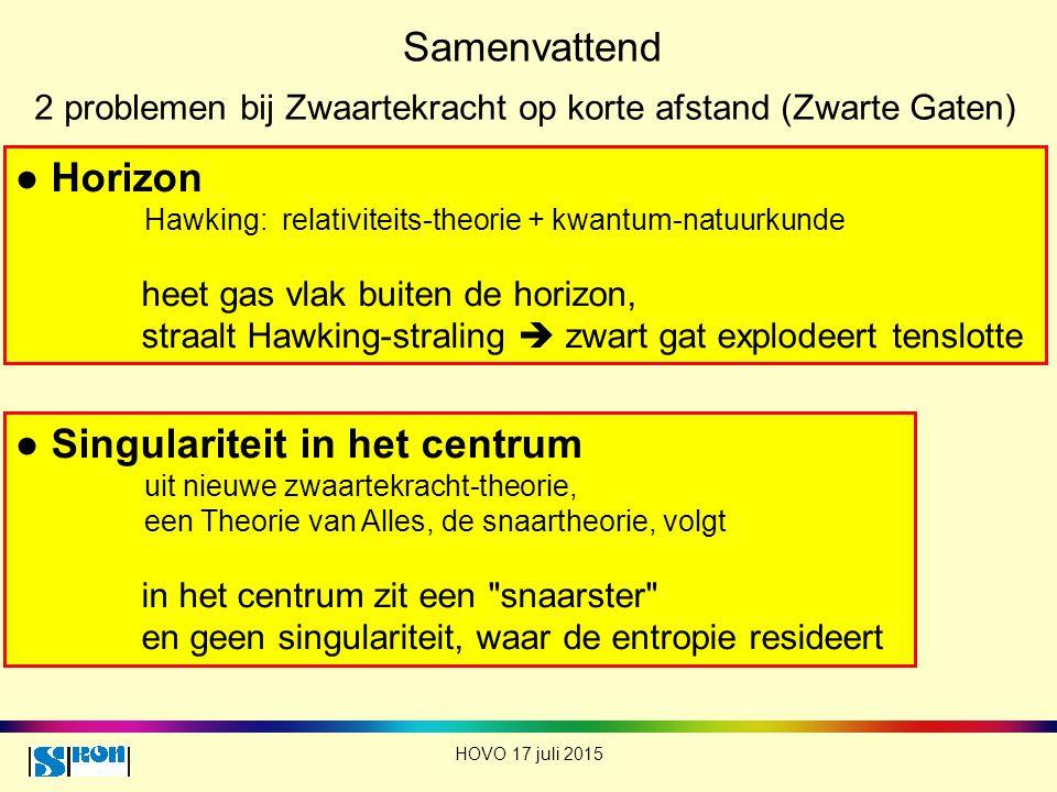 ● Singulariteit in het centrum