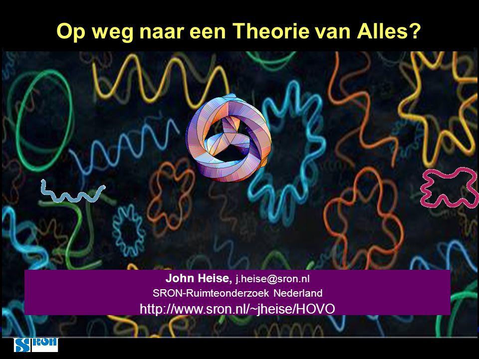Op weg naar een Theorie van Alles