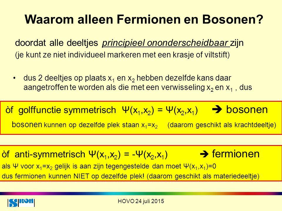 Waarom alleen Fermionen en Bosonen
