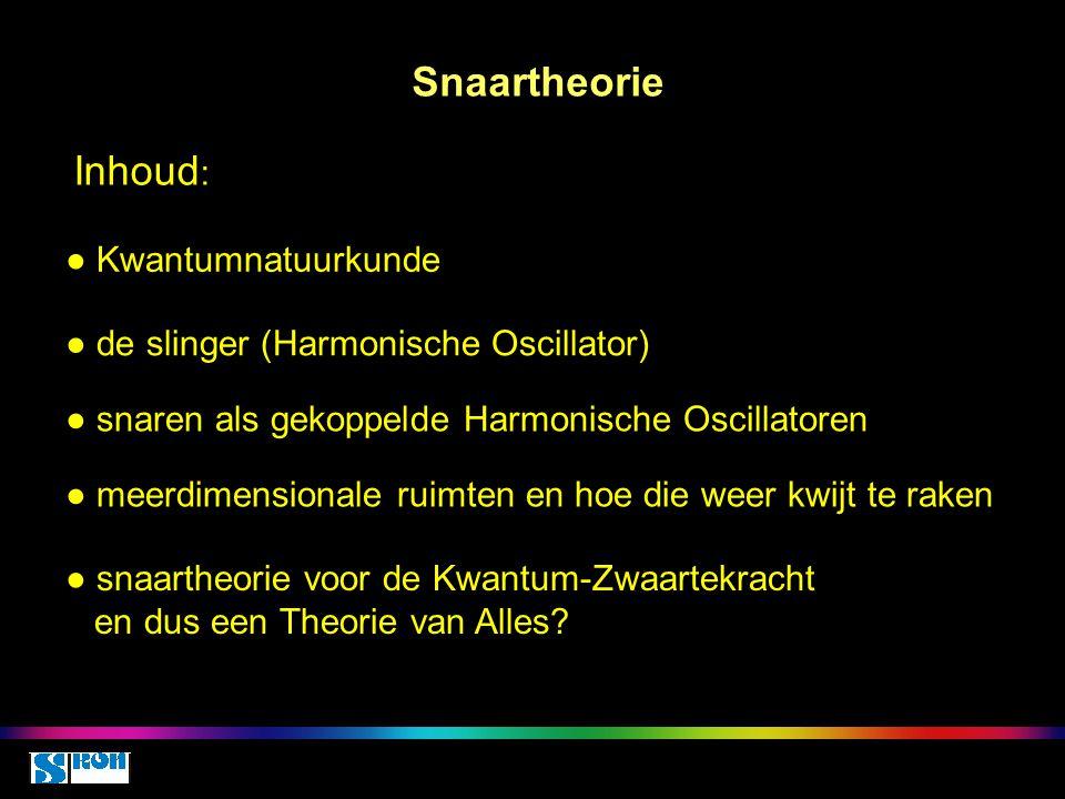 Snaartheorie Inhoud: ● Kwantumnatuurkunde