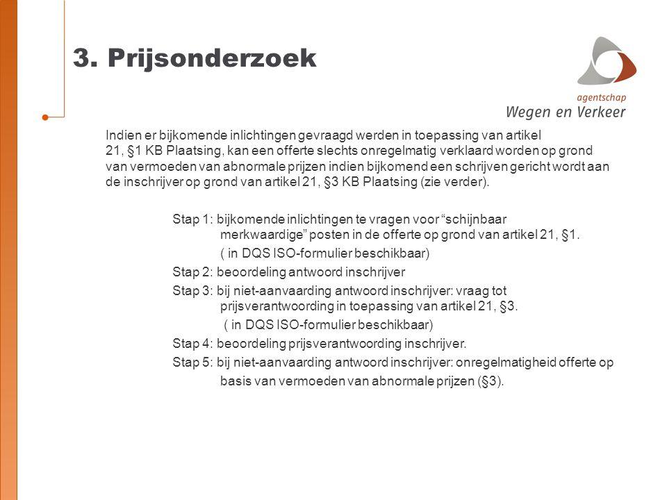 3. Prijsonderzoek
