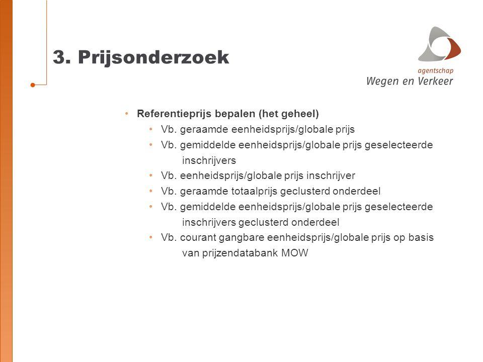 3. Prijsonderzoek Referentieprijs bepalen (het geheel)