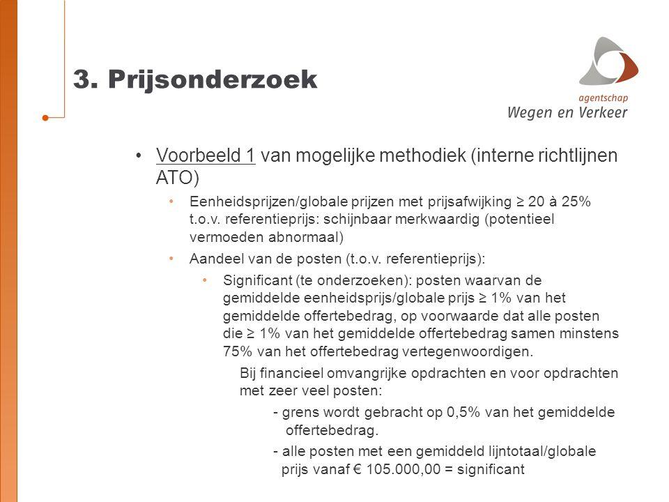 3. Prijsonderzoek Voorbeeld 1 van mogelijke methodiek (interne richtlijnen ATO)