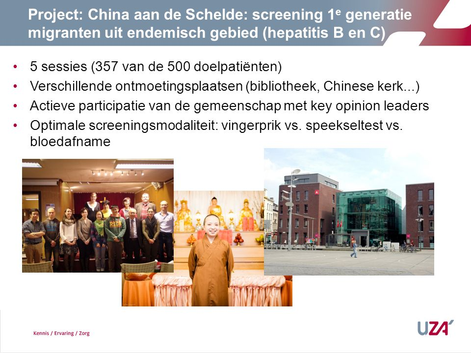 1818 Project: China aan de Schelde: screening 1e generatie migranten uit endemisch gebied (hepatitis B en C)
