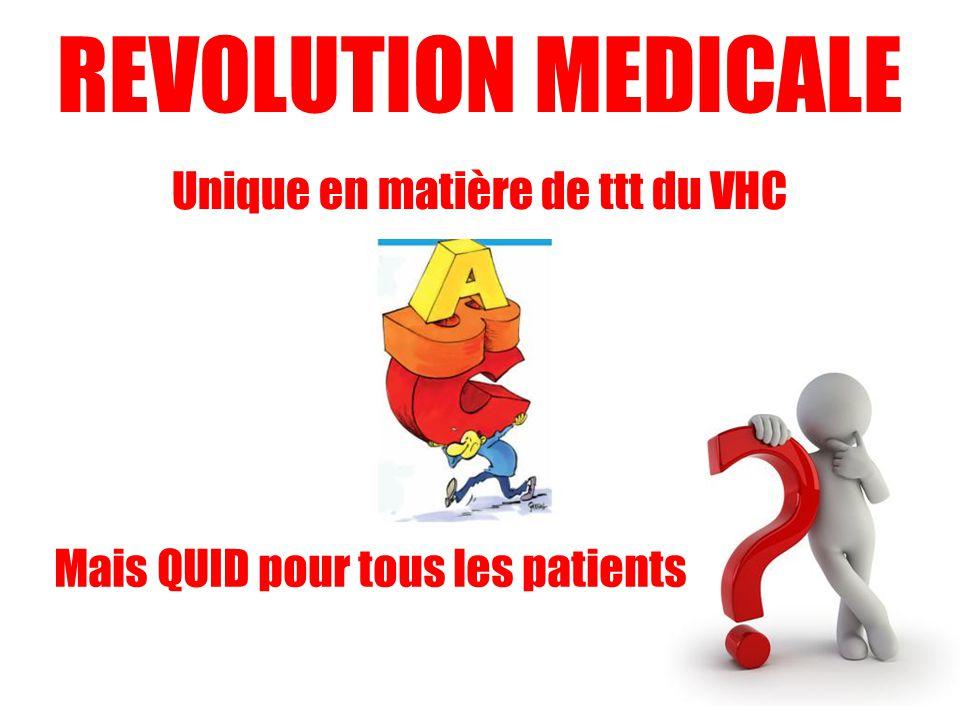 REVOLUTION MEDICALE Unique en matière de ttt du VHC