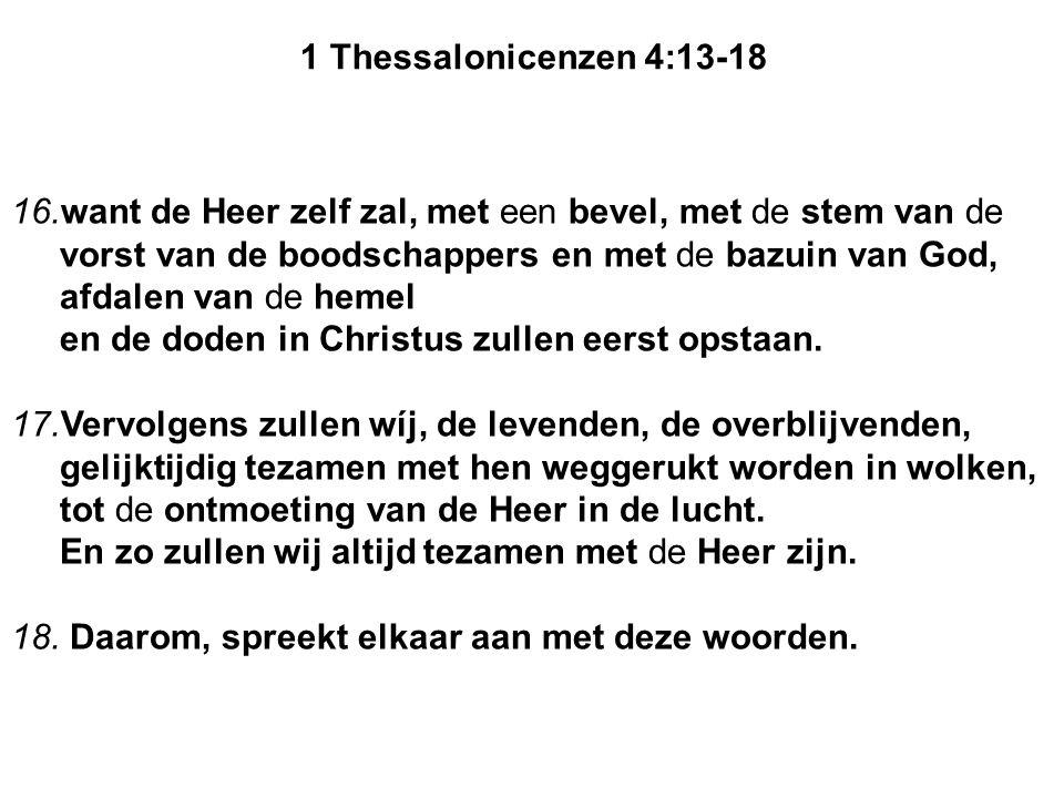 1 Thessalonicenzen 4:13-18