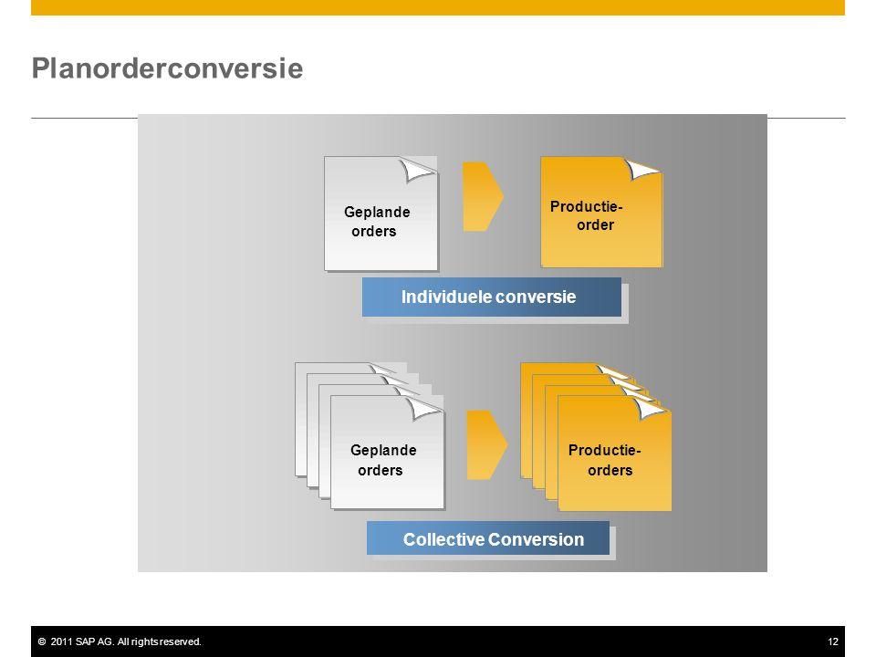 Planorderconversie Individuele conversie Collective Conversion