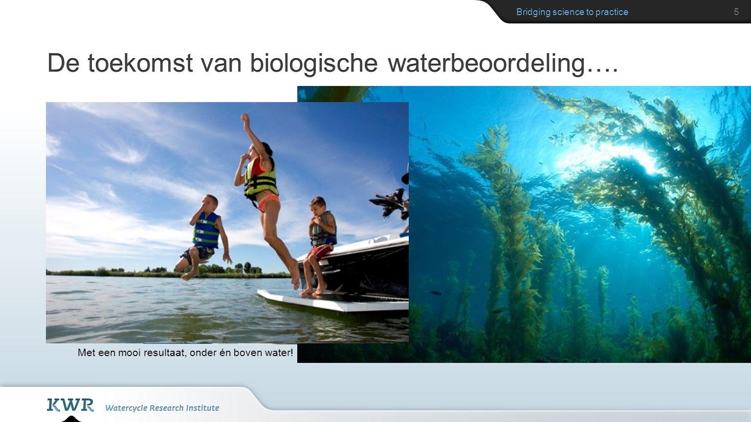 De toekomst van biologische waterbeoordeling….