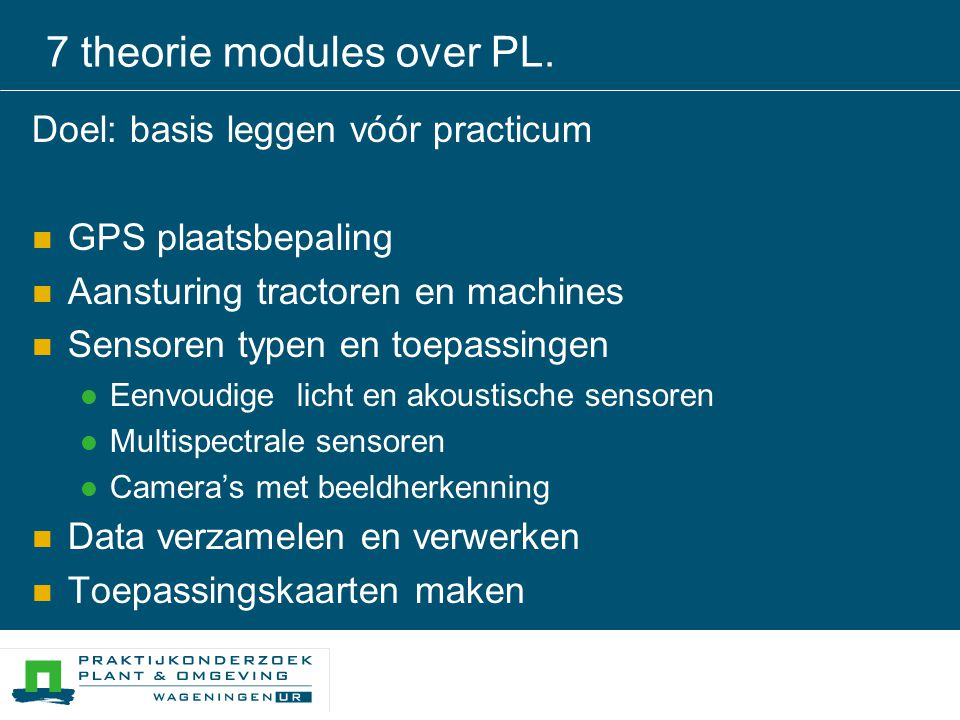 7 theorie modules over PL.