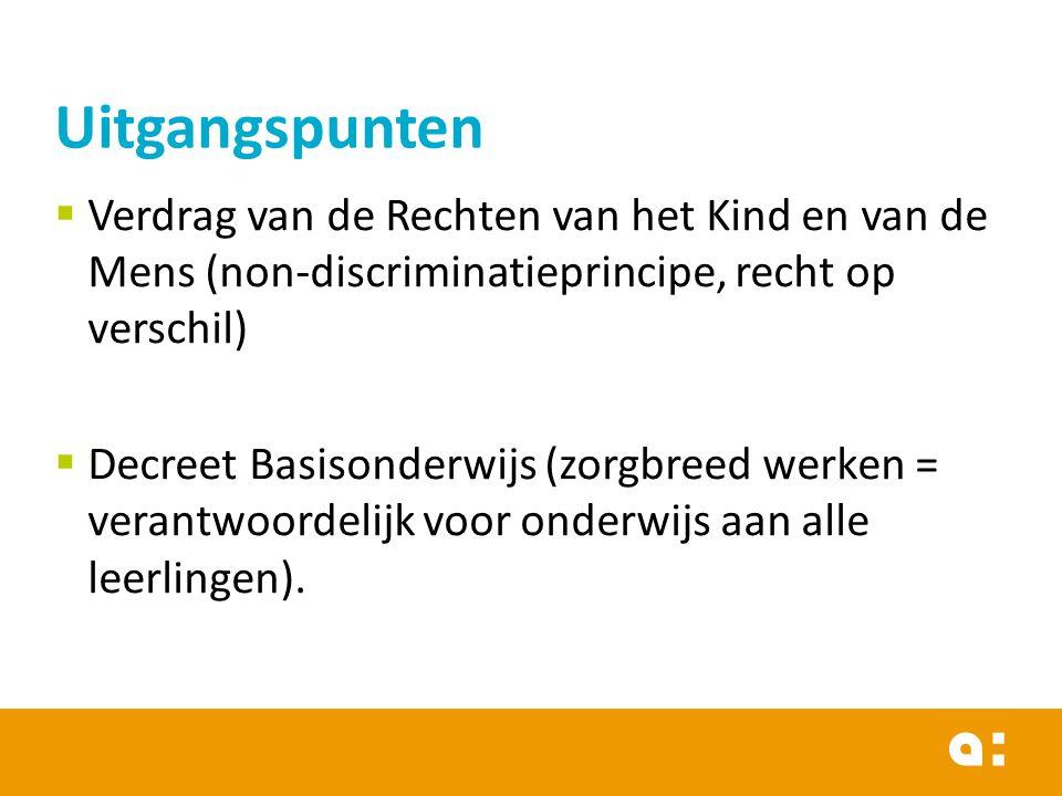 Uitgangspunten Verdrag van de Rechten van het Kind en van de Mens (non-discriminatieprincipe, recht op verschil)