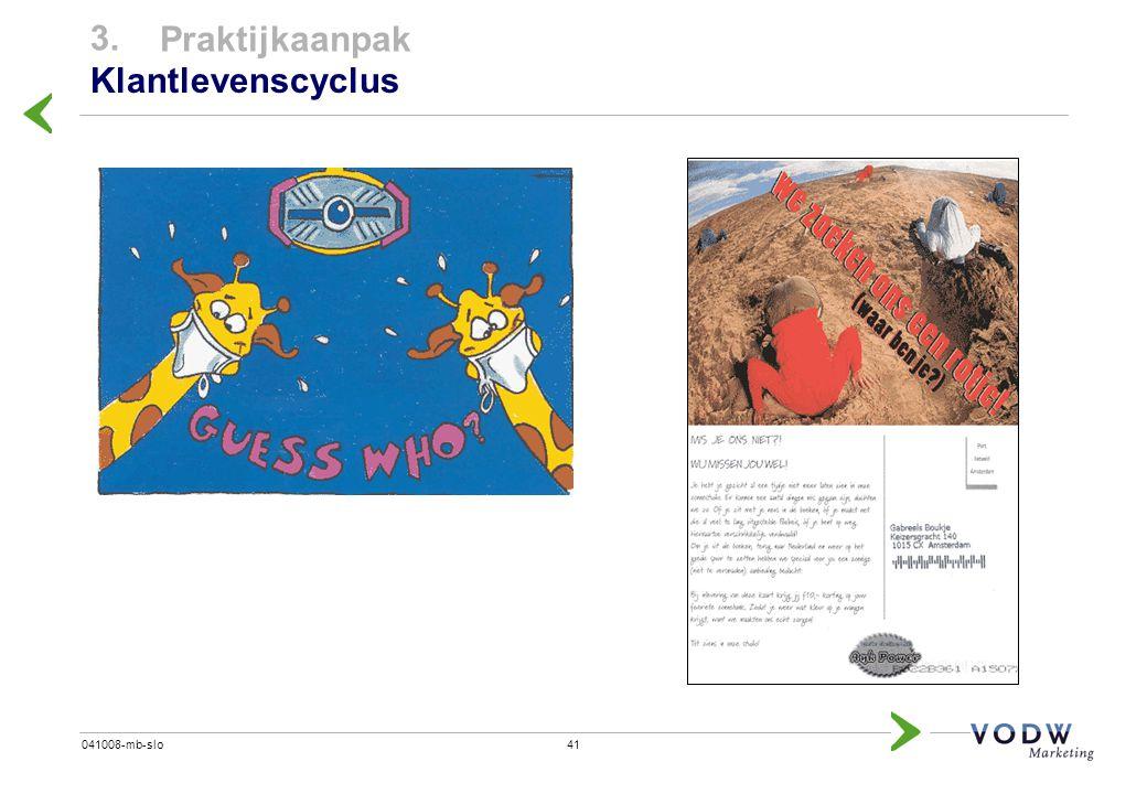 3. Praktijkaanpak Klantlevenscyclus