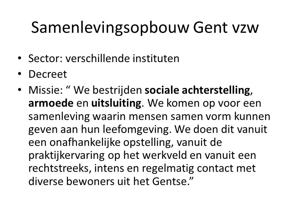 Samenlevingsopbouw Gent vzw