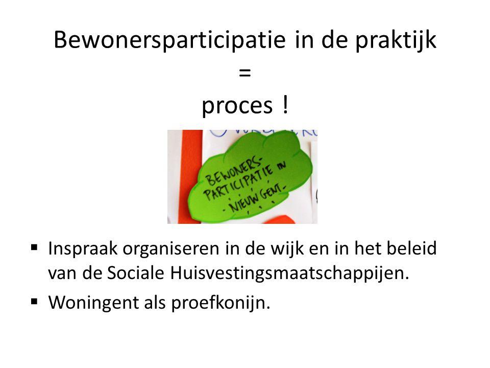 Bewonersparticipatie in de praktijk = proces !