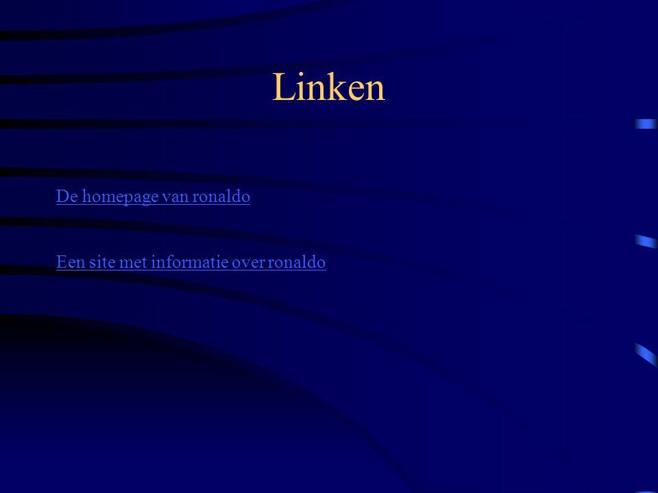 Linken De homepage van ronaldo Een site met informatie over ronaldo
