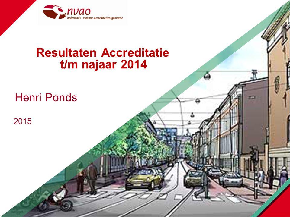 Resultaten Accreditatie t/m najaar 2014