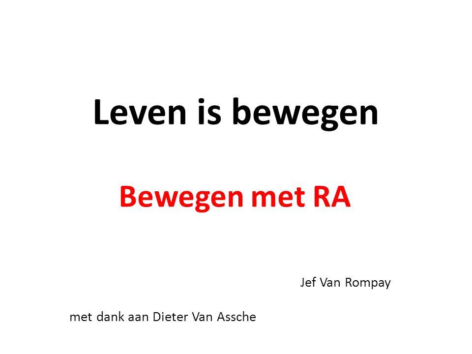 Bewegen met RA Jef Van Rompay met dank aan Dieter Van Assche