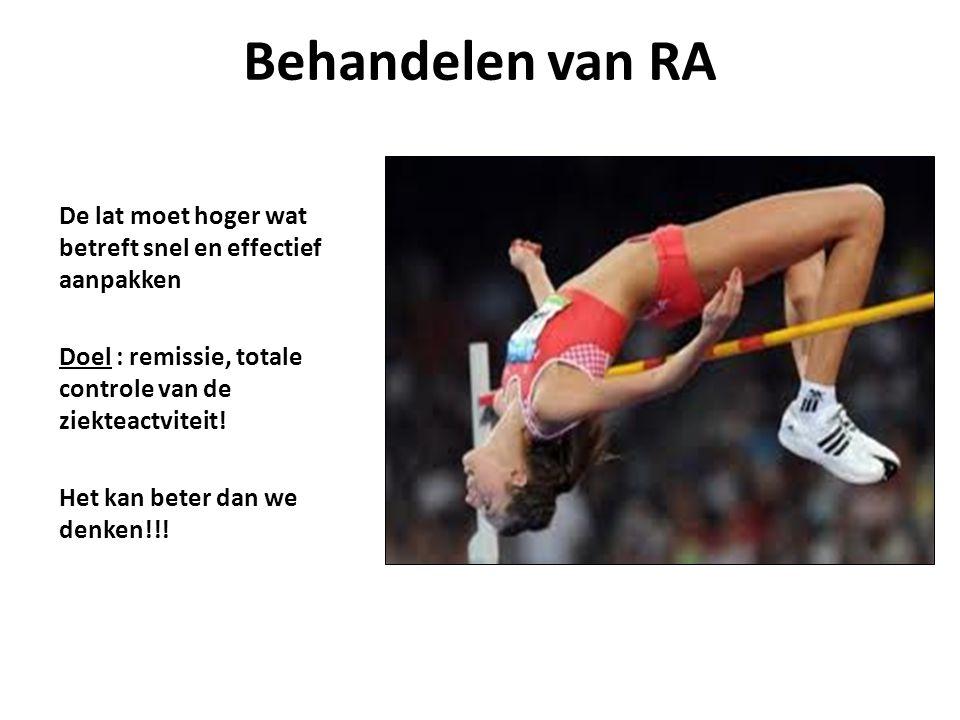 Behandelen van RA De lat moet hoger wat betreft snel en effectief aanpakken.