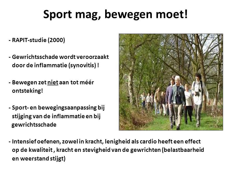Sport mag, bewegen moet!