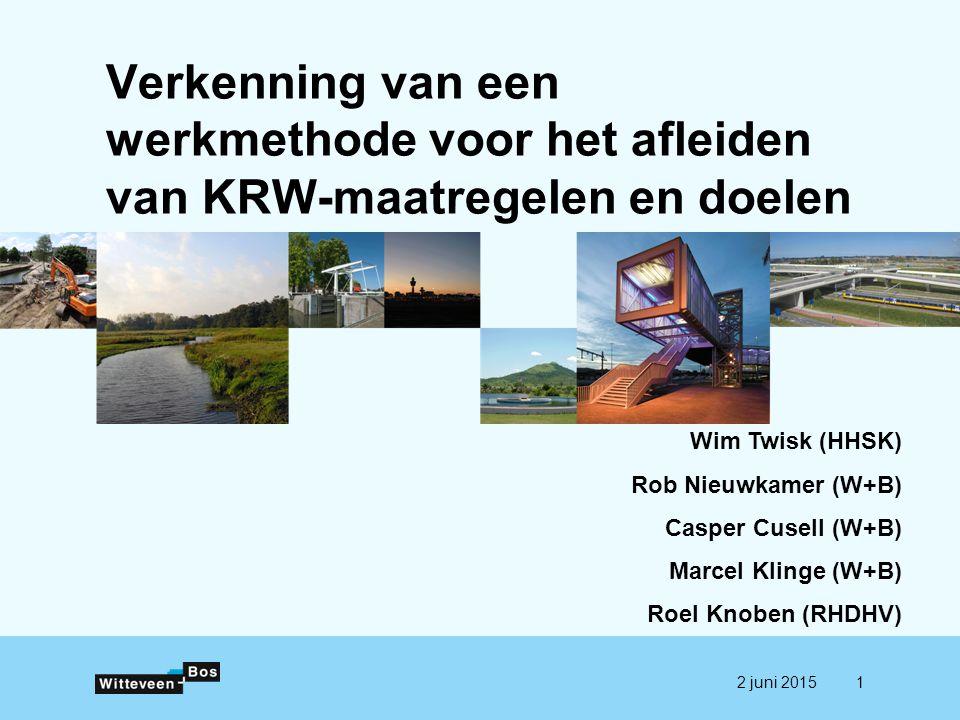 Verkenning van een werkmethode voor het afleiden van KRW-maatregelen en doelen