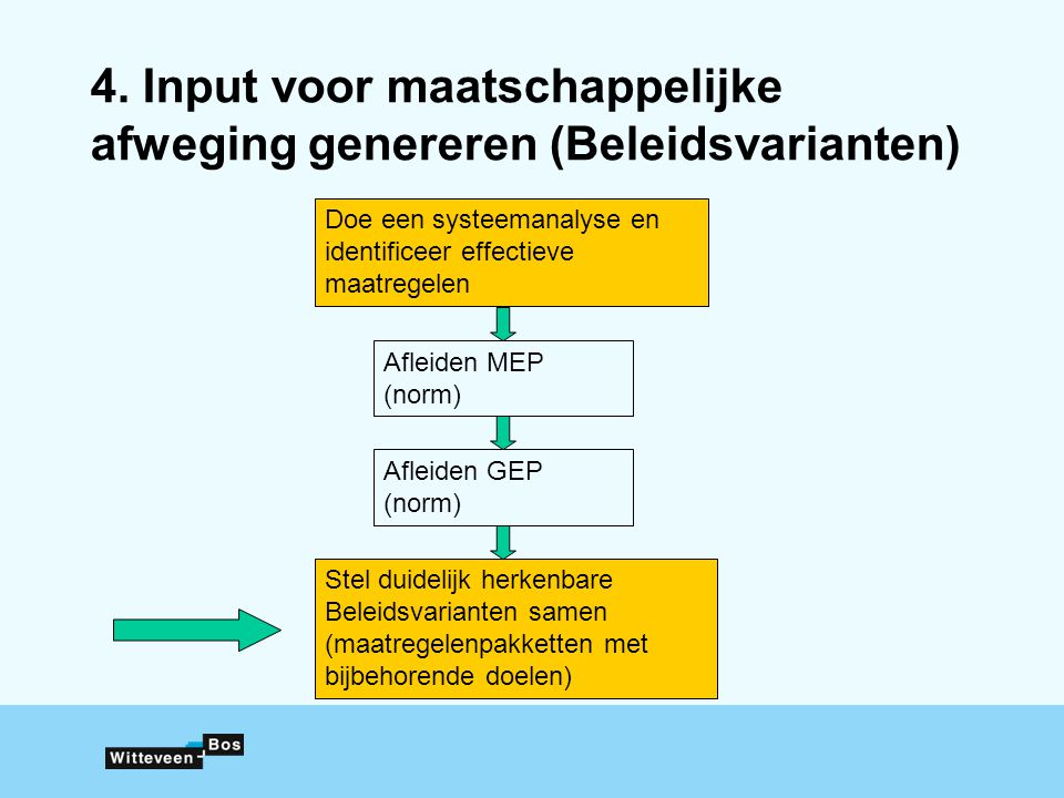 4. Input voor maatschappelijke afweging genereren (Beleidsvarianten)