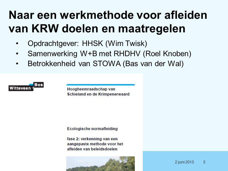 Naar een werkmethode voor afleiden van KRW doelen en maatregelen