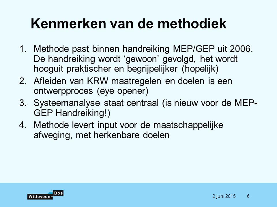 Kenmerken van de methodiek