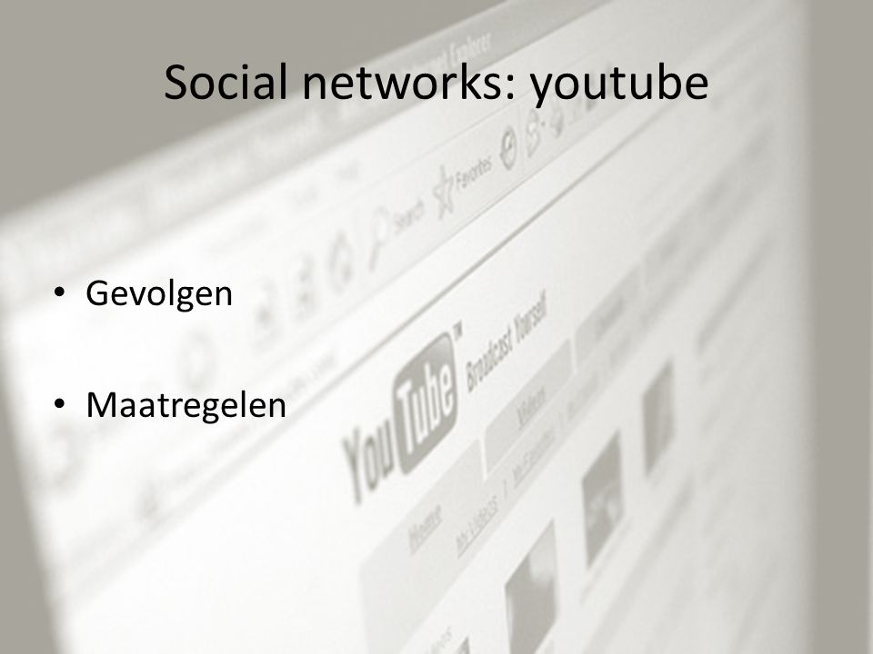 Social networks: youtube