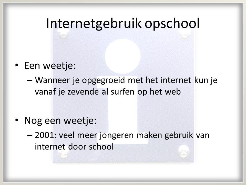 Internetgebruik opschool