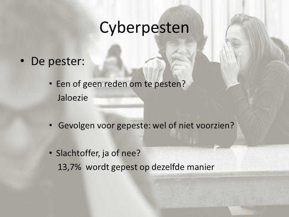 Cyberpesten De pester: Een of geen reden om te pesten Jaloezie