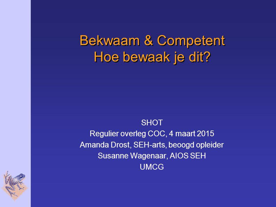 Bekwaam & Competent Hoe bewaak je dit