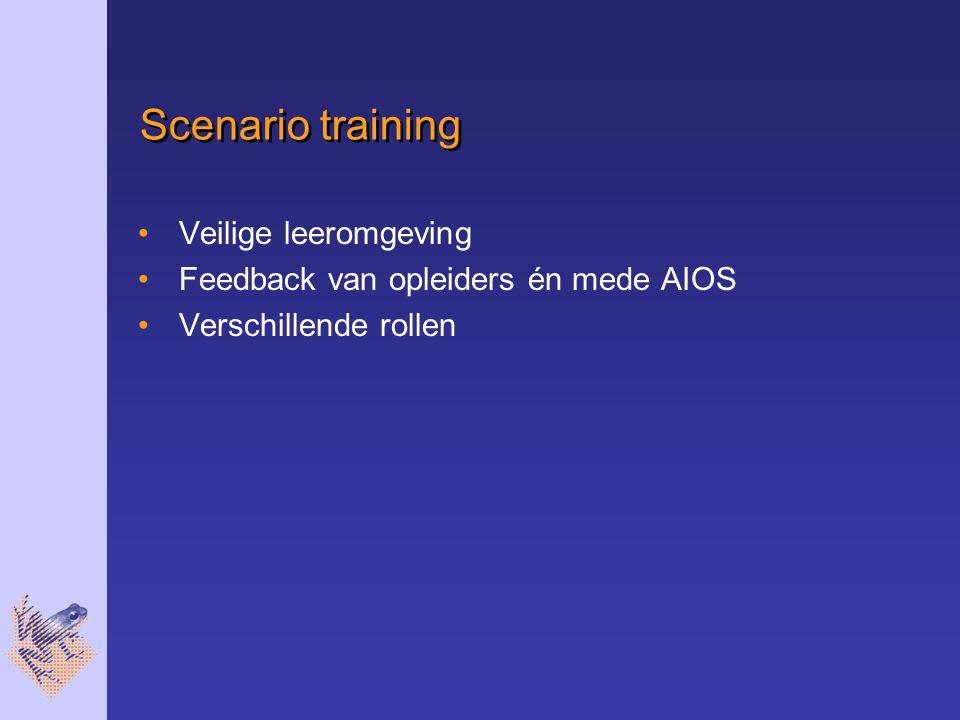 Scenario training Veilige leeromgeving