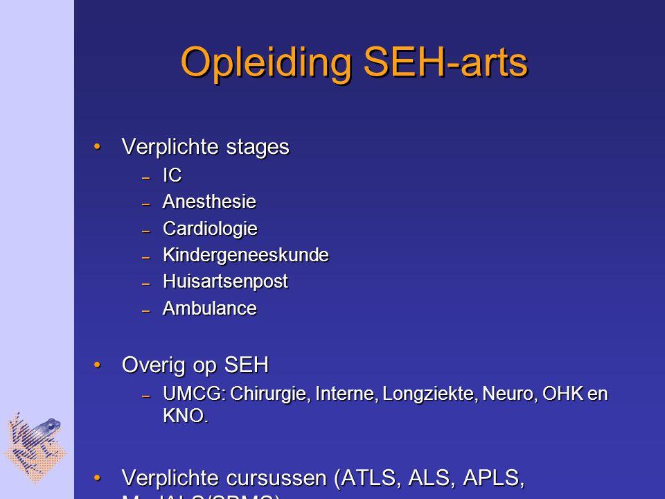 Opleiding SEH-arts Verplichte stages Overig op SEH