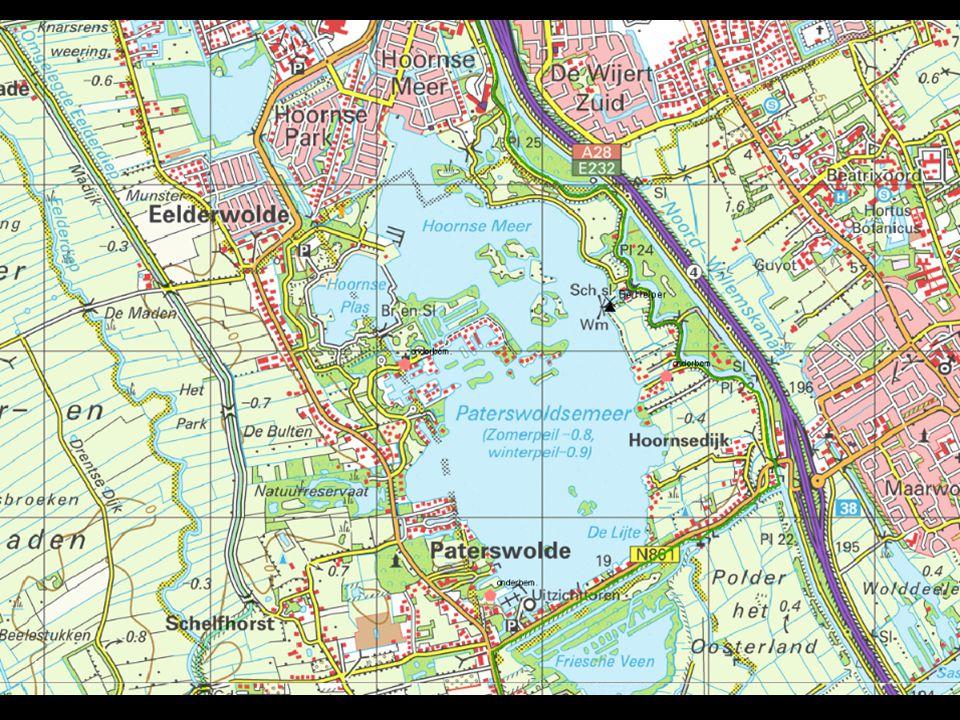 Paterswoldsemeer, Hoornse Meer: samen 270ha