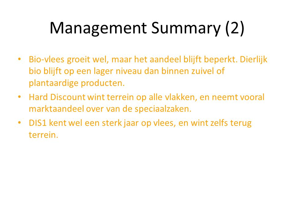 Management Summary (2)