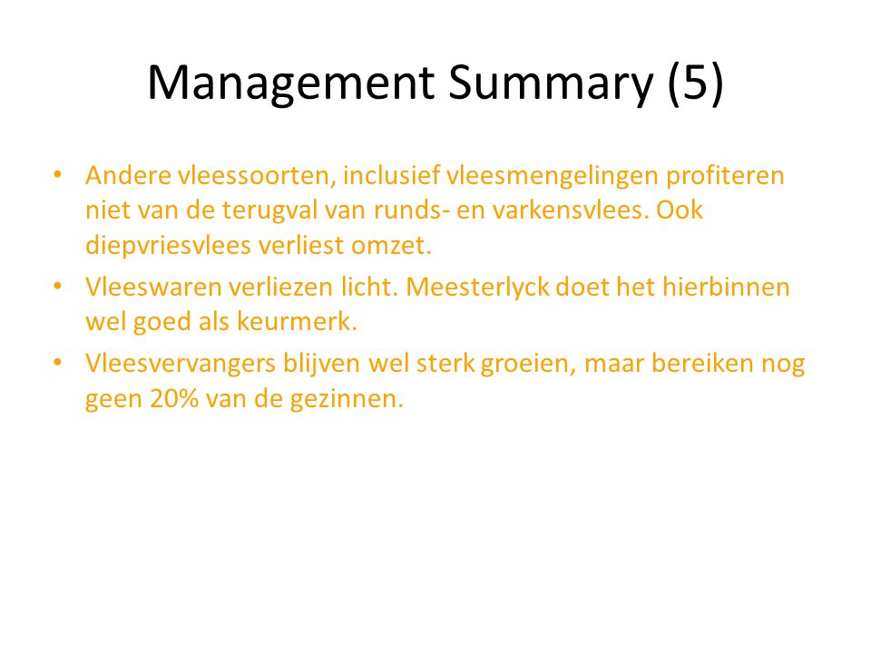 Management Summary (5)