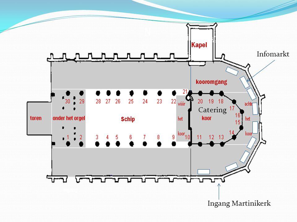 Kapel Infomarkt kooromgang Catering Schip Ingang Martinikerk