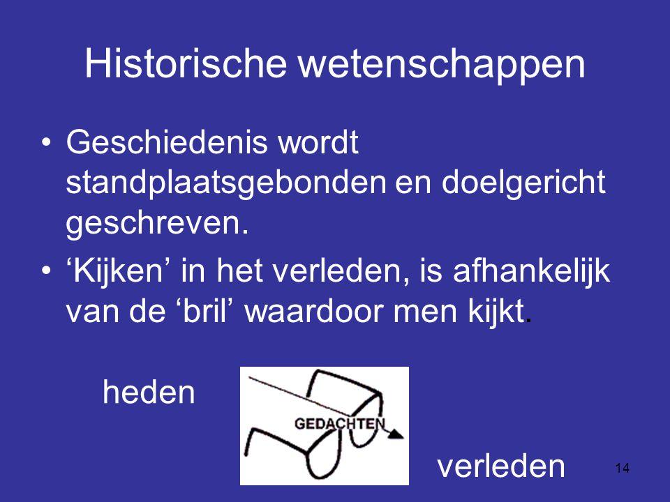Historische wetenschappen