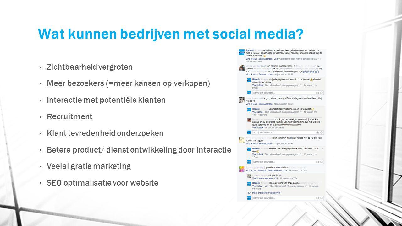 Wat kunnen bedrijven met social media