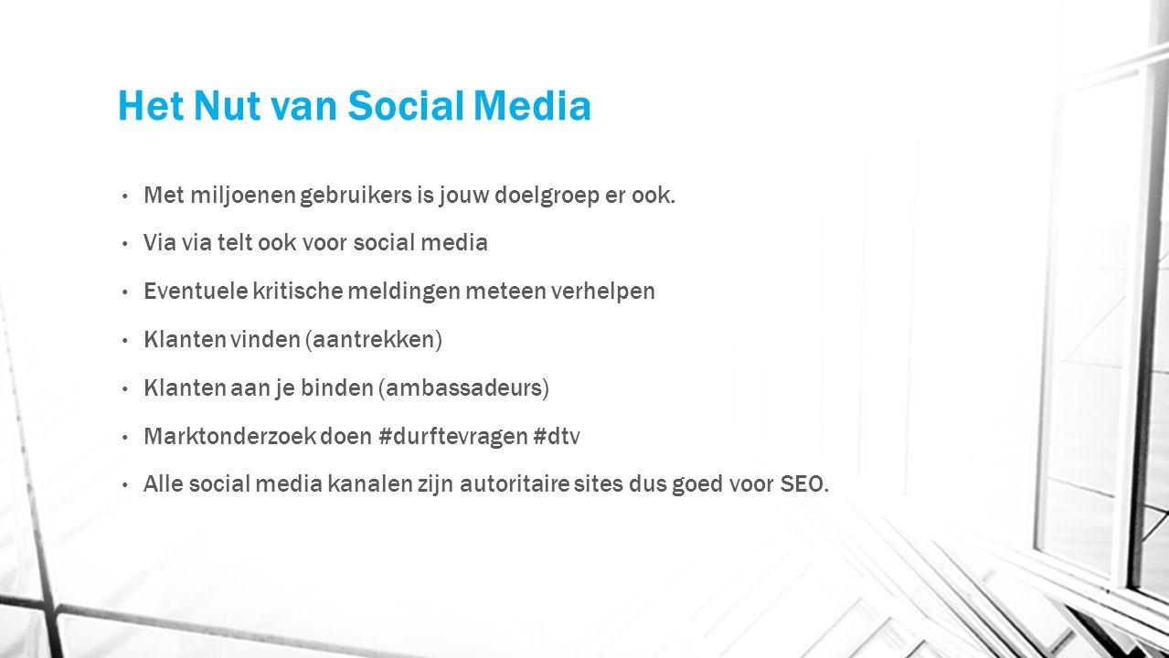 Het Nut van Social Media