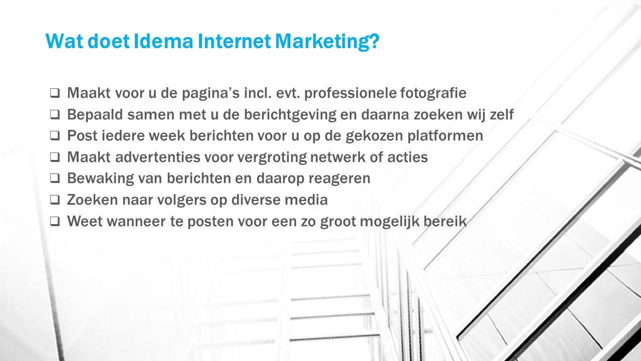 Wat doet Idema Internet Marketing