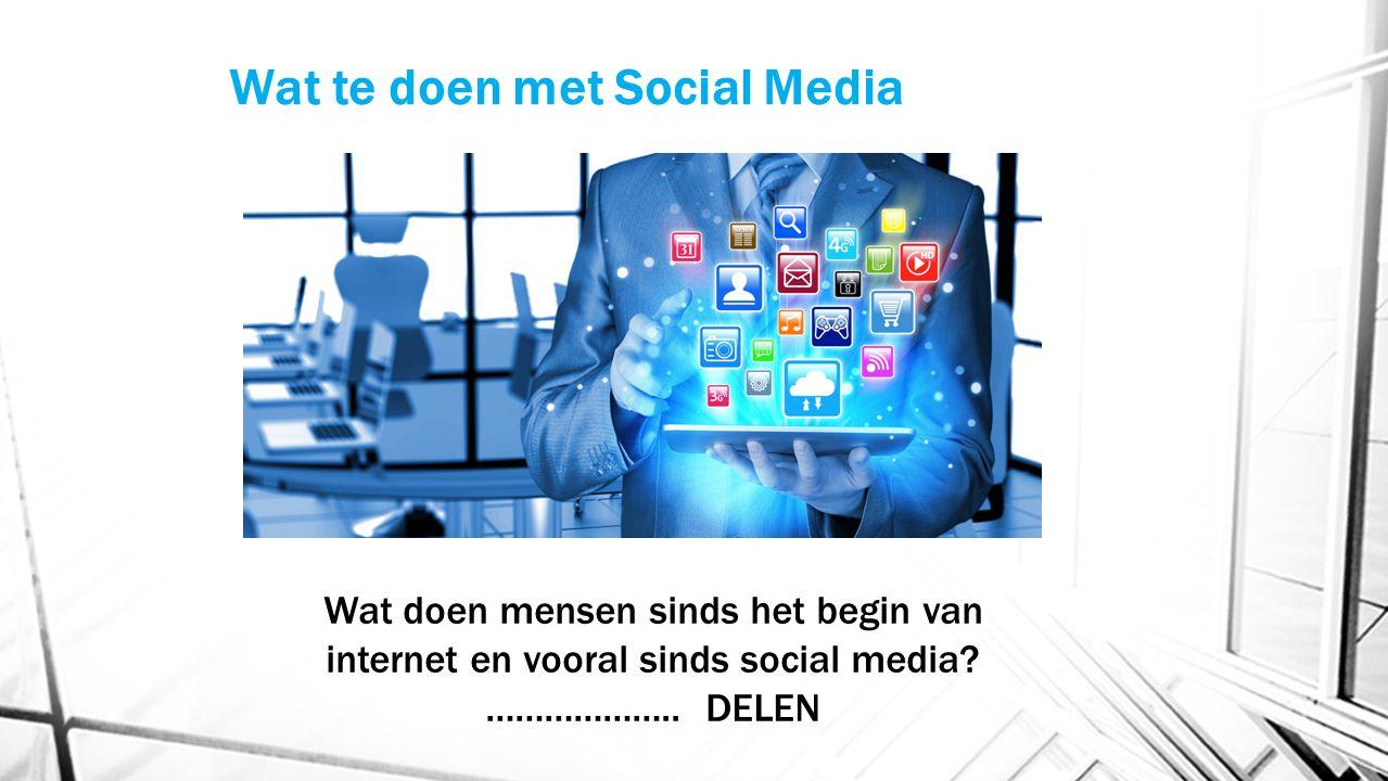 Wat te doen met Social Media