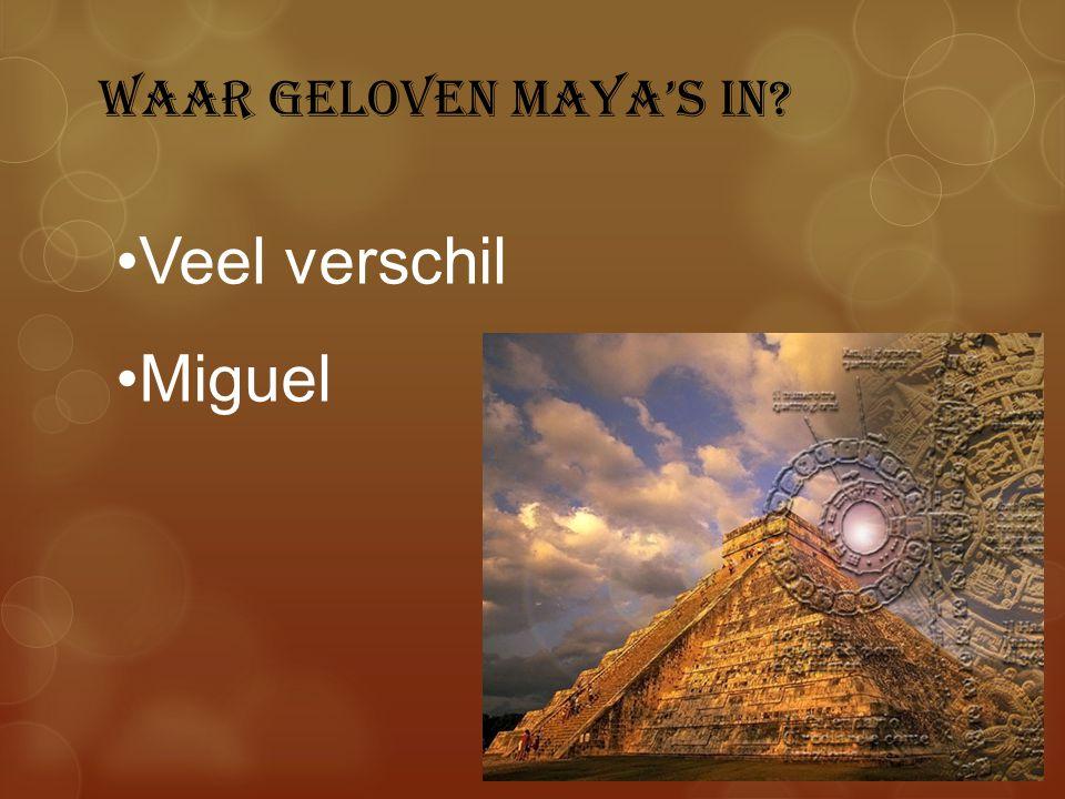 Waar geloven Maya's in Veel verschil Miguel