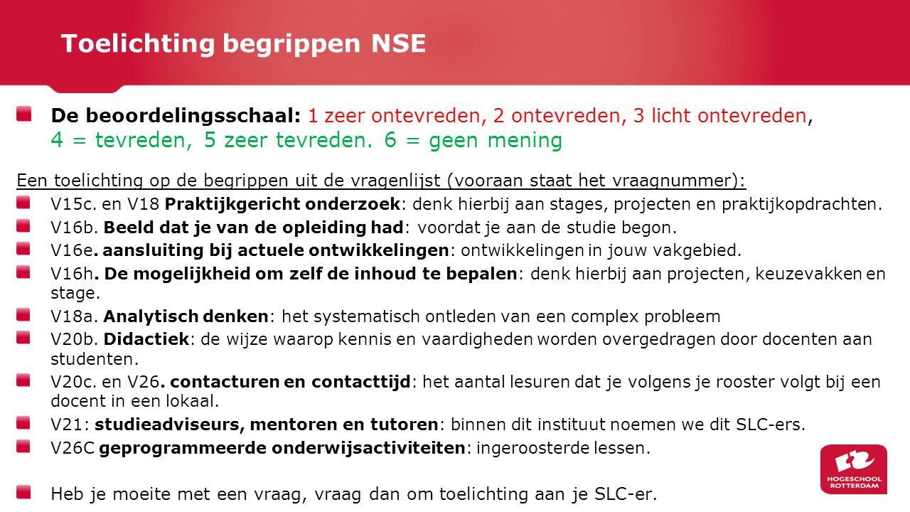 Toelichting begrippen NSE