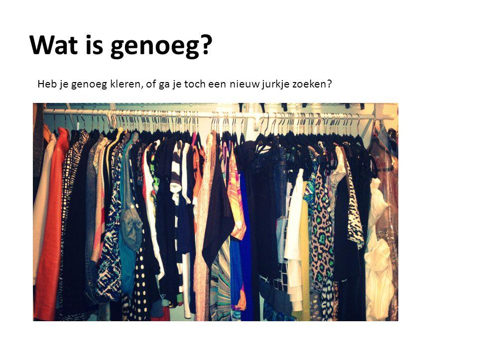 Wat is genoeg Heb je genoeg kleren, of ga je toch een nieuw jurkje zoeken