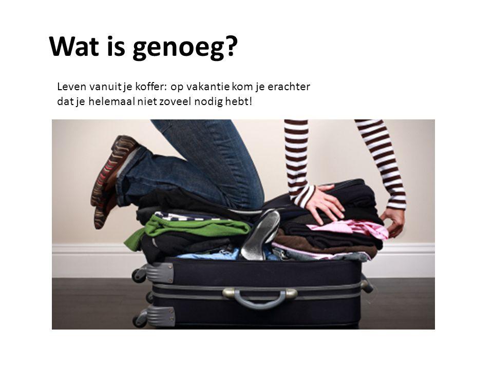 Wat is genoeg Leven vanuit je koffer: op vakantie kom je erachter