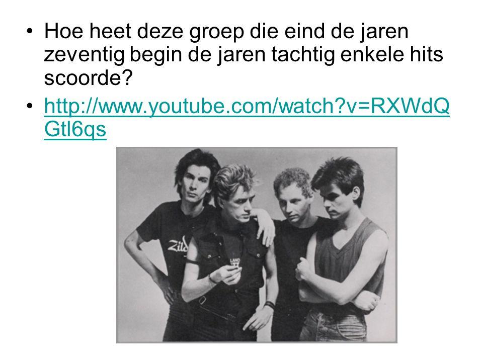 Hoe heet deze groep die eind de jaren zeventig begin de jaren tachtig enkele hits scoorde