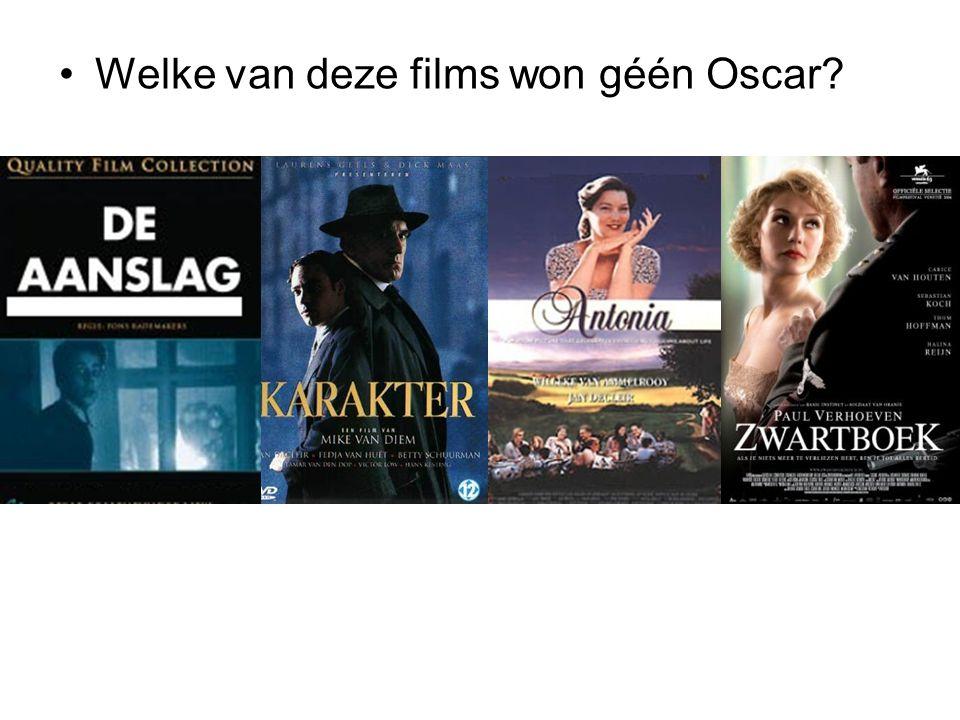 Welke van deze films won géén Oscar